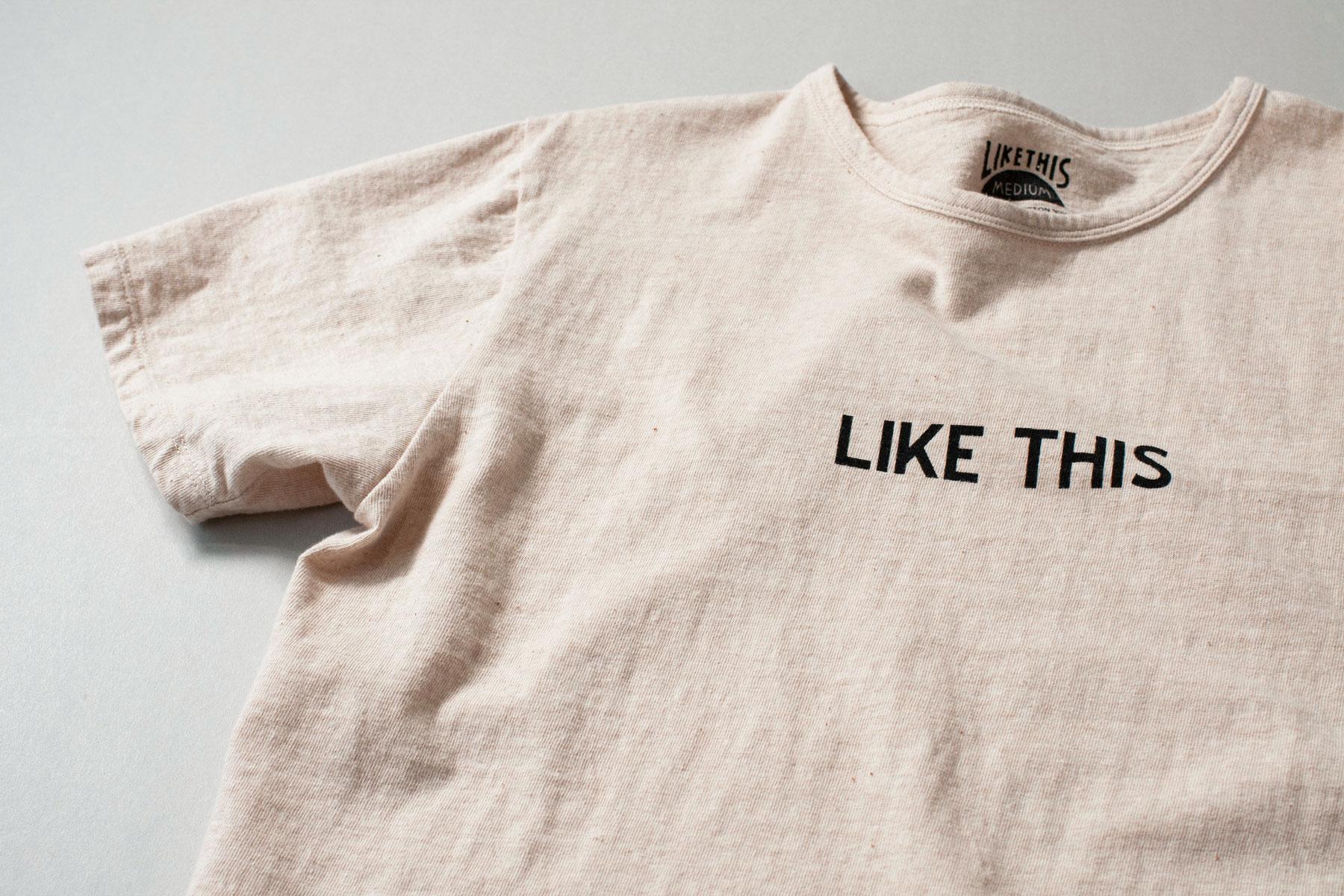オーガニックコットン 吊り編み ロゴプリントTシャツ
