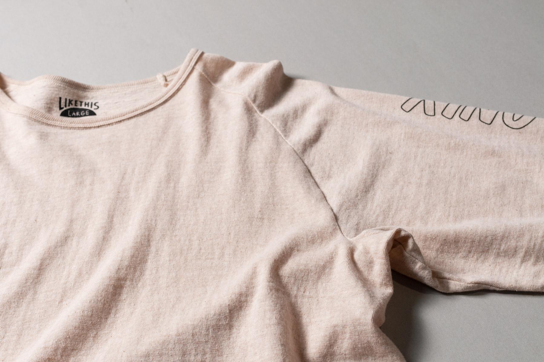 オーガニックコットン ラグラン スリーブプリント Tシャツ