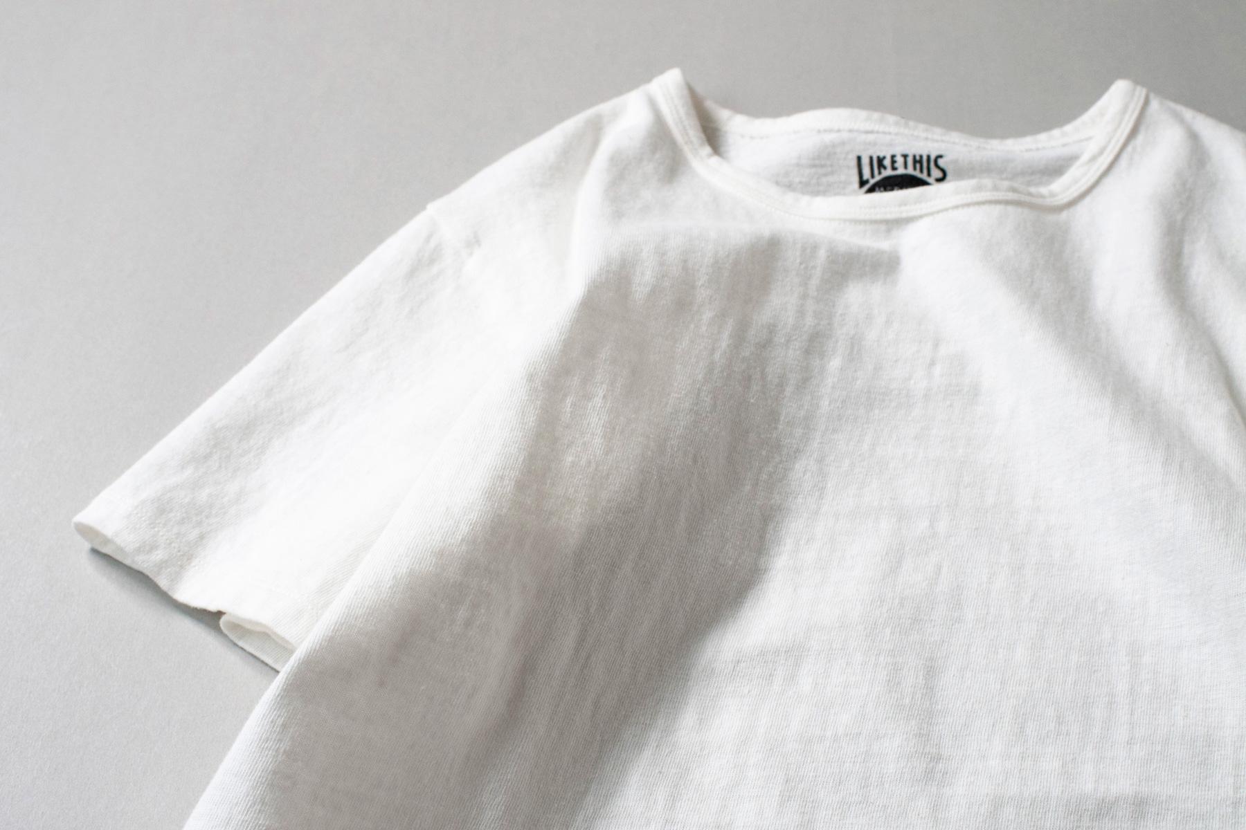 オーガニックコットン 吊り編みTシャツ