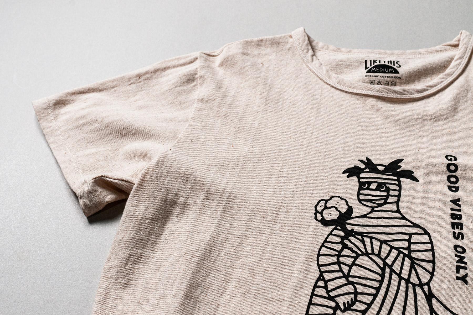 オーガニックコットン グラフィックプリントTシャツ