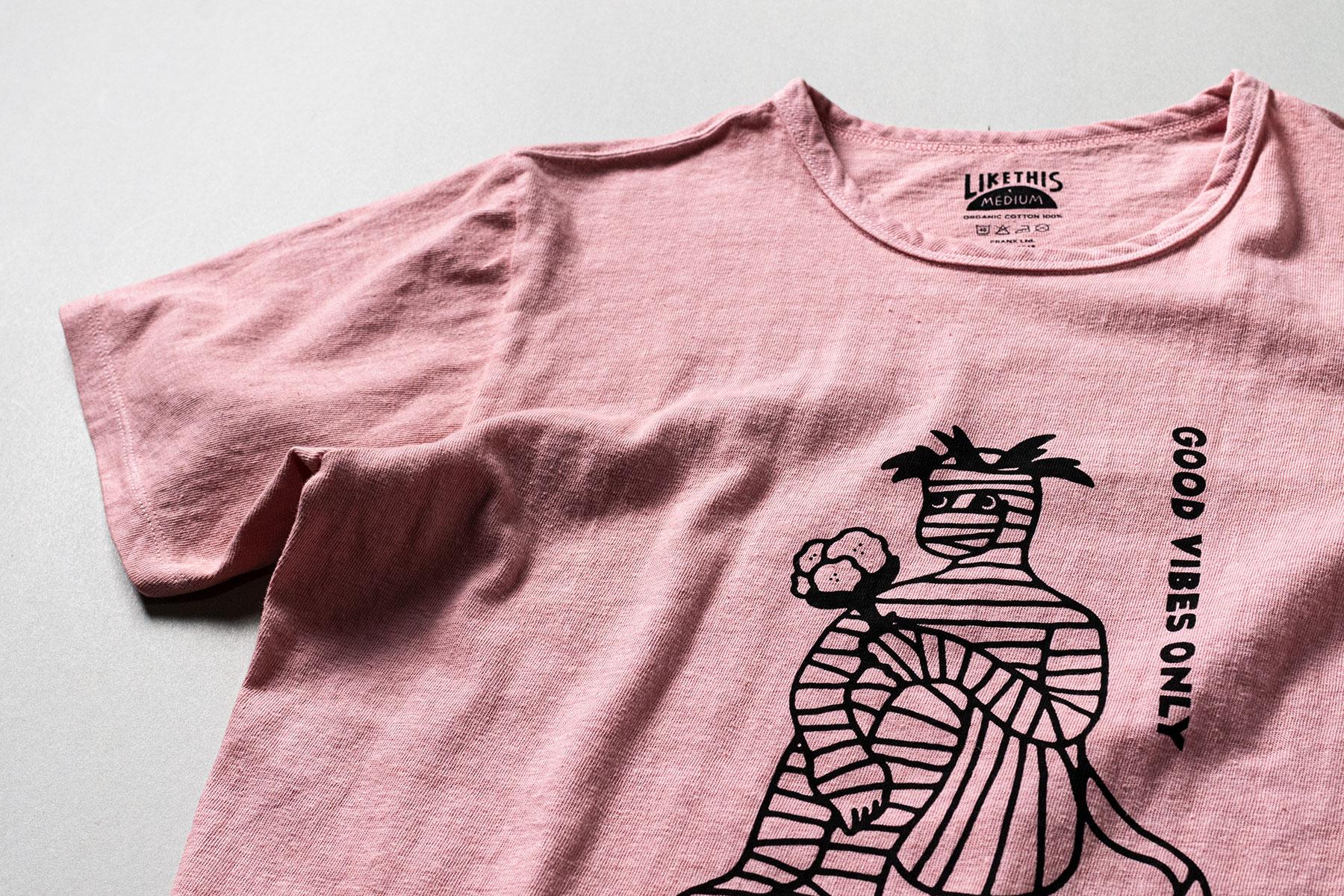 オーガニックコットン ボタニカルダイ 山桃染め Tシャツ